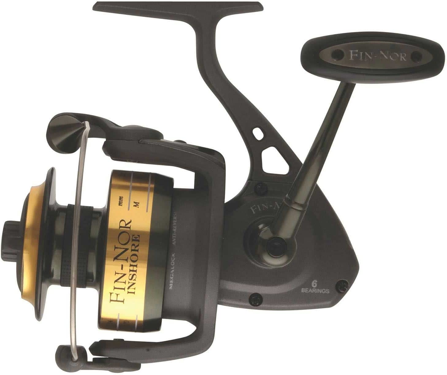 Fin-Nor IFS5000 Inshore Spinning Reel, 200-Yards, 12-Pound Mono ...