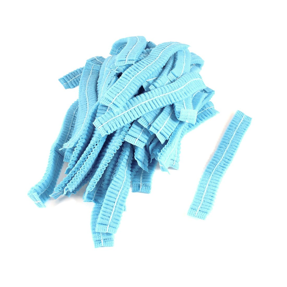 uxcell Stretchy Head Band Disposable Bathing Shower Cap 50 Pcs Blue US-SA-AJD-52558