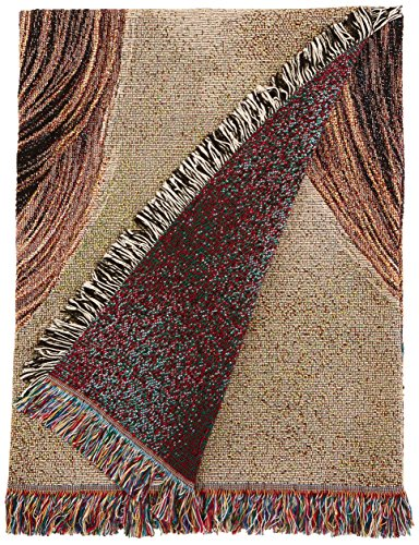 Pure Country 1187-LS Lhasa Apso Pet Blanket, Canine on Beige Background, 54 by 54-Inch