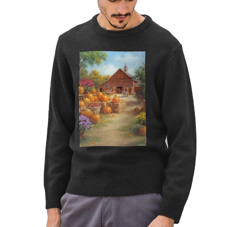 Mr.Roadman Men's Autumn Pumpkin Flower DIY Custom Print Cool