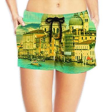 8ed3243713aa5 Image Unavailable. Image not available for. Color: AnkasAsasd Venice Woman Short  Pants Beach Board Shorts