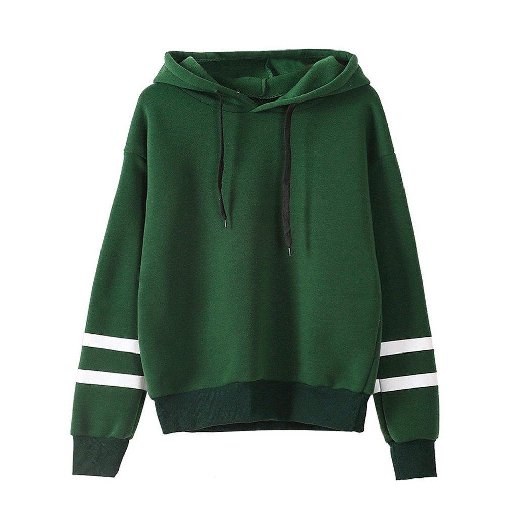 Kemilove Clearance Sale Womens Long Sleeve Hoodie Sweatshirt Jumper Hooded Pullover Tops Blouse