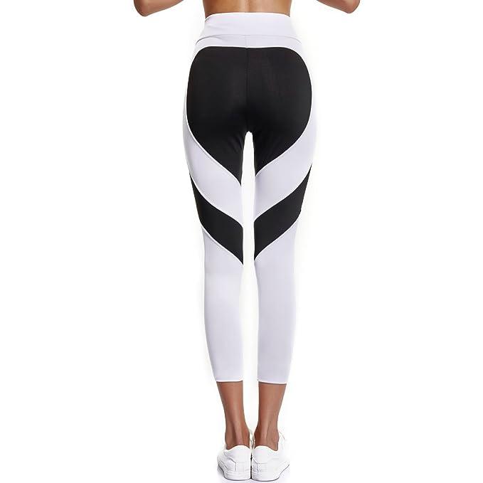 Joyshaper Leggings de Mujer Mallas Capris Deportivas Yoga Pantalon Elastico  Cintura Altura Polainas para Running Pilates 4e9941c2672c6