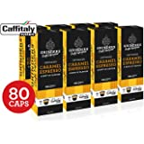 Grinders Coffee Caffitaly Compatible Capsules, 80 Caramel Espresso Capsules