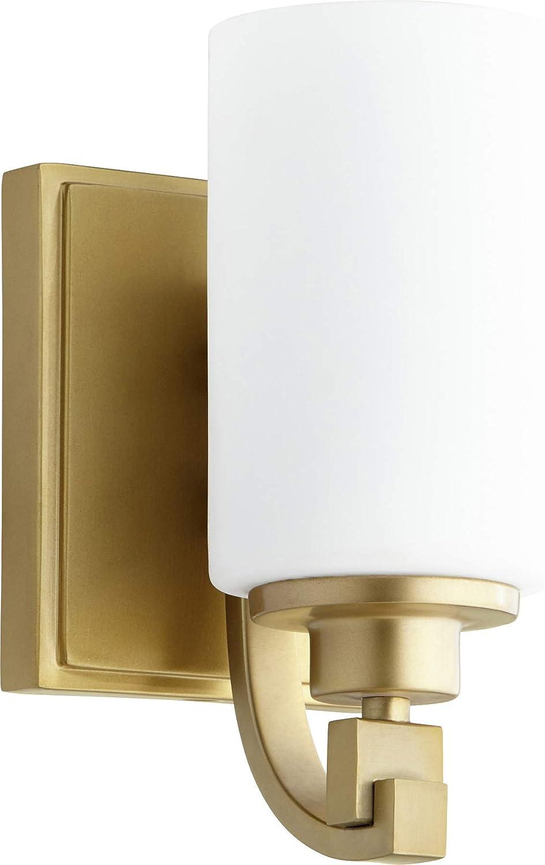 Quorum 5407-1-80 ein Light Wall Mount, Brass-Antique