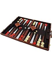 Spiele Philos Backgammon Kunstleder 47 x 29 cm