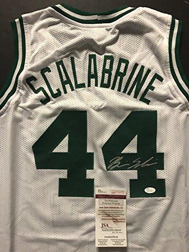 Autographed/Signed Brian Scalabrine Boston Celtics White Basketball Jersey JSA COA (Autographed White Jersey Celtics)