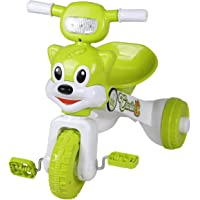 Fun Ride Charlie Foldable Tricycles with Music and Lights for Boys and Girls of 2-4 Years (Green, Weight Upto 18 Kg)