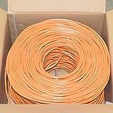 Premiertek 1000Ft Cat6 23AWG UTP Solid 4-Pairs Network Ethernet LAN Cable Bulk Orange (CAT6-CCA-1KFT-O)