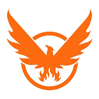 JINX Tom Clancy's The Division 2 Phoenix on Board Car Window Die Cut Vinyl Decal Sticker, Orange: Toys & Games