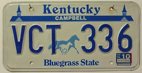 Usa Auswahl Von Fahrzeugschildern Kentucky Nummernschild U S A Kennzeichen U S License Plate Bluegrass State Autoschild Mit Pferde Motiv Auto
