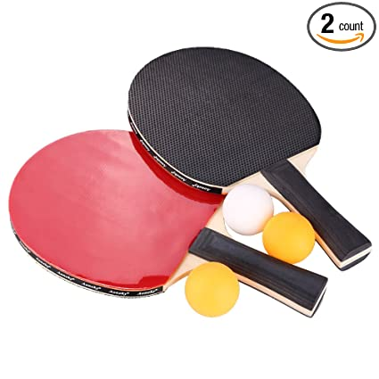 Amazon.com : 2-Player Ping Pong Paddle Set, Aoneky Wood Kids Table ...