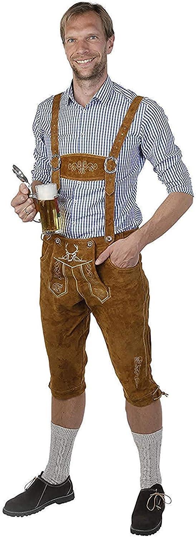 Amazon.com: Lederhosen - Disfraz de Oktoberfest alemán (piel ...