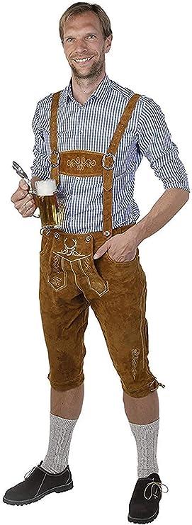 Ladies Lederhosen Knickerbockers Trousers Brown Traditional Costume Leather