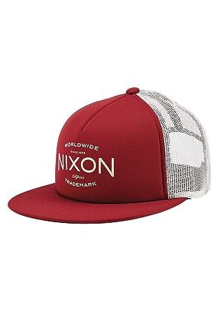 d35b5a07 Amazon.com: NIXON Ridge Trucker Snapback Hat Cabernet: Clothing