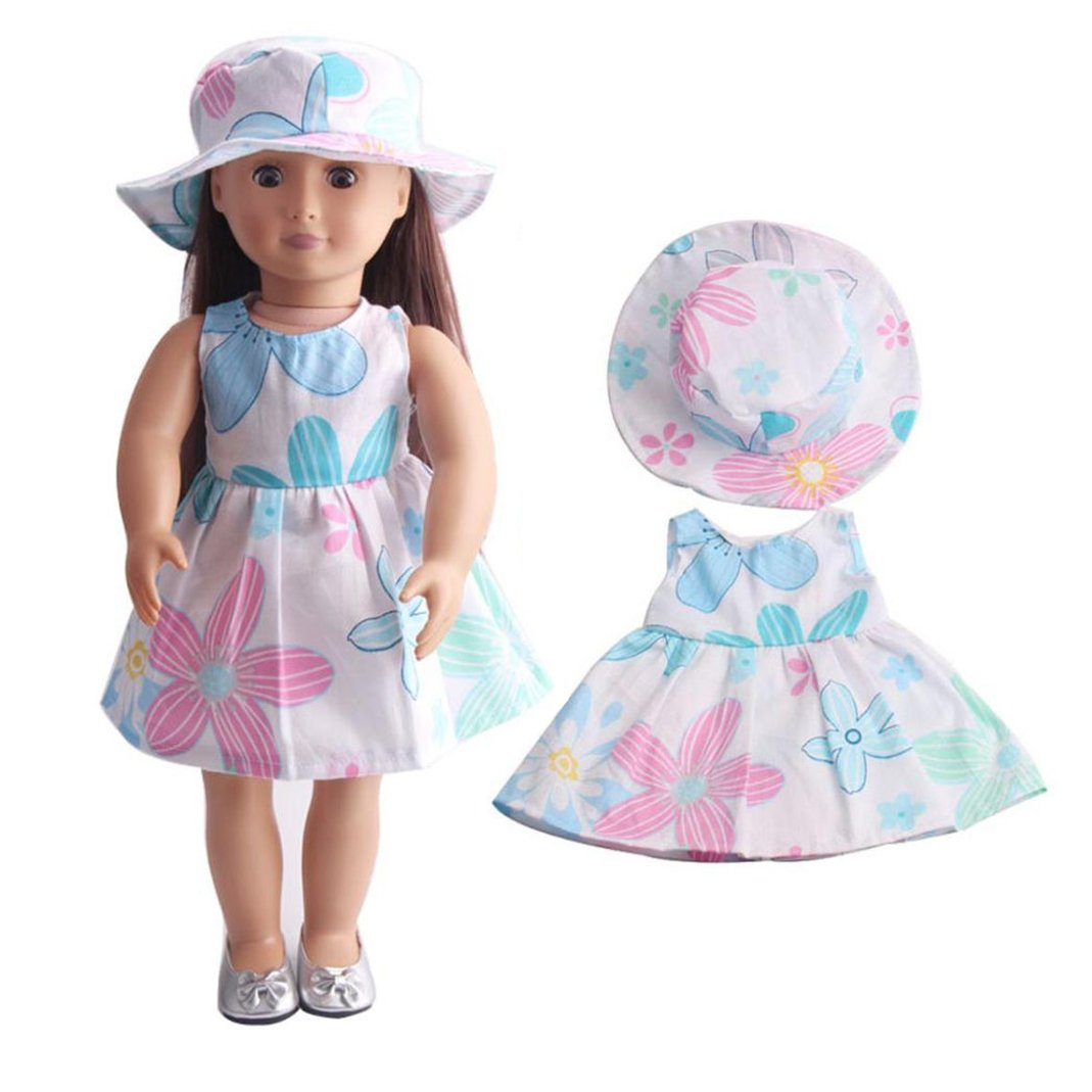 WensLTD Clearance! Skirt&Hat for 18 inch Our Generation American Girl Doll (A)