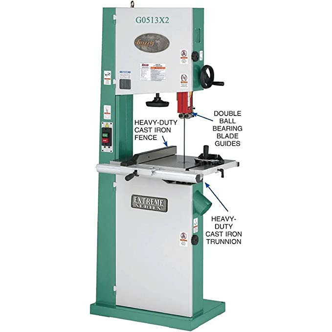 Grizzly g0513x2 bandsaw with cast iron trunnion 2 hp 17 inch grizzly g0513x2 bandsaw with cast iron trunnion 2 hp 17 inch power band saws amazon keyboard keysfo Gallery