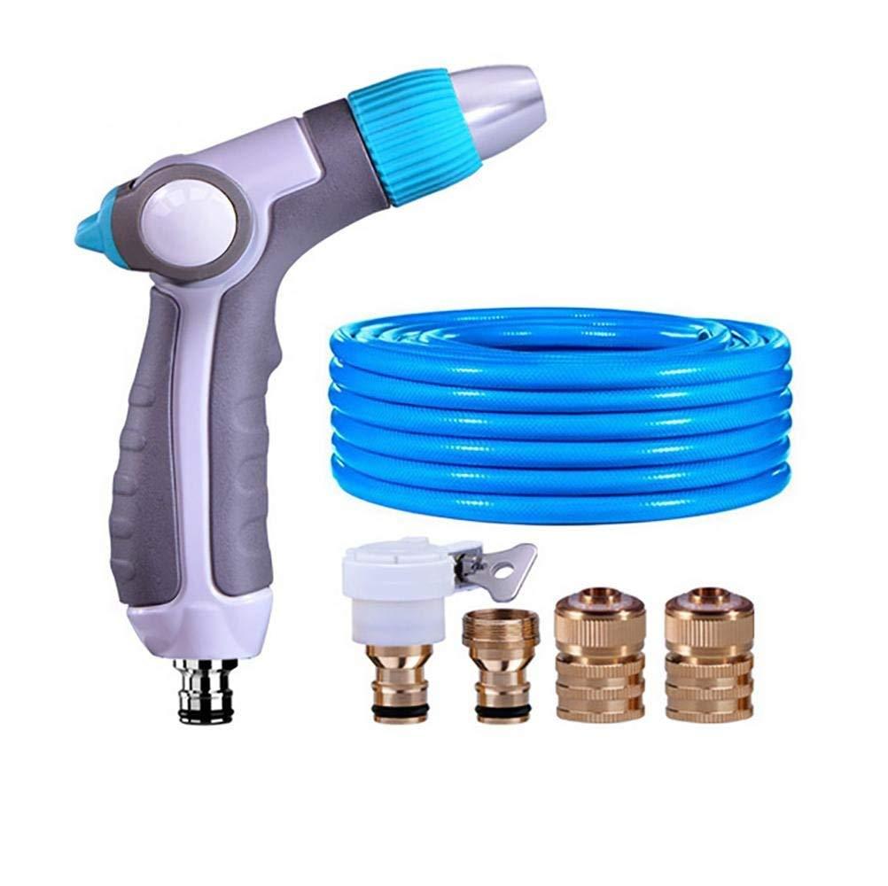 Ameuli Pistola per pulizia auto - ugello per tubo da giardino - ugello per acqua in metallo - modalità di irrigazione regolabile - attrezzatura per l'irrigazione antiscivolo - doccia per auto,C