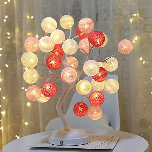 AK Luz de escritorio LED, decoración de bolas de hilo Lámpara de ...