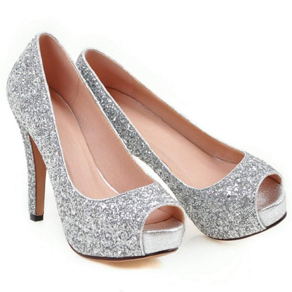 HhGold Damenmode Slip On Court Schuhe Stiletto Stiletto Stiletto Pumps Peep Toe Schuhe 949053