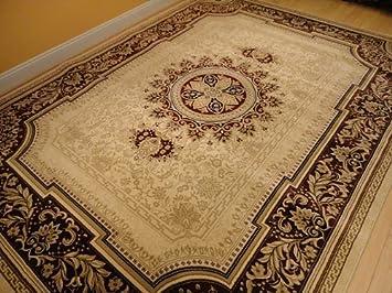 Persian Rug 8x11 Ivory Tabriz Oriental Rugs Living Room Size 8x10 Carpet