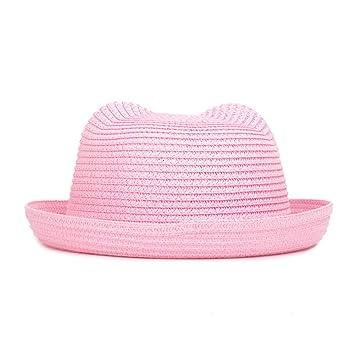 CGXBZA Orejas De Moda Sombreros De Paja Bebé Sombrero para El Sol ...