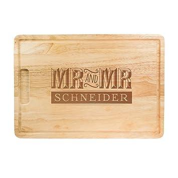 Crazy Kitchen Schneidebrett Aus Holz Mit Gravur Zur Hochzeit Mr