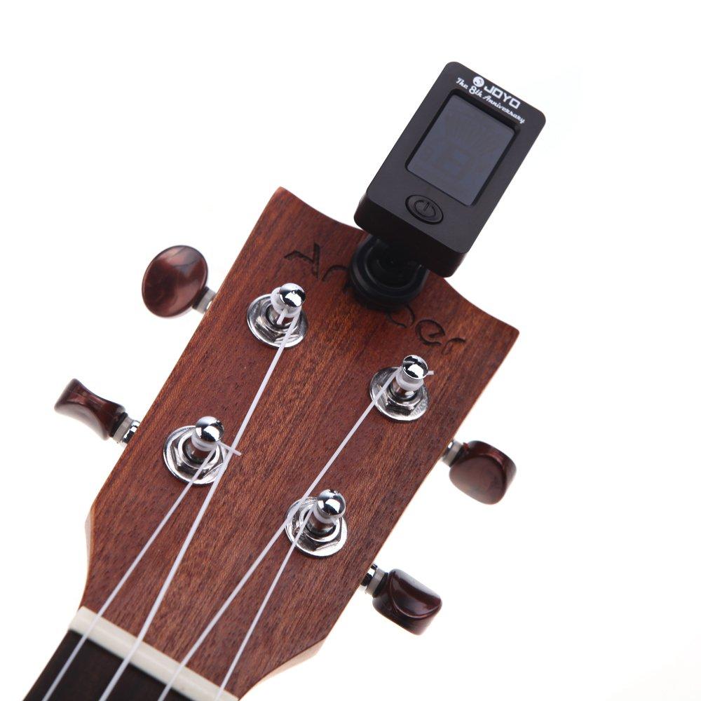JOYO JT-01 Mini Digital LCD Clip-on Afinador Cromático para Guitarra Bass Violin Ukulele C Ukulele D: Amazon.es: Instrumentos musicales