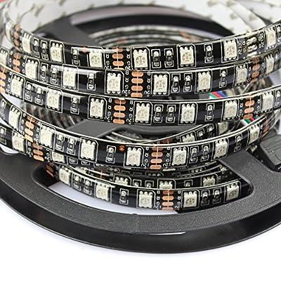 MIYOLE 5Meter 300LEDs Pure White Flexible LED Strip Light 5050 DC 12Volt for Store Light