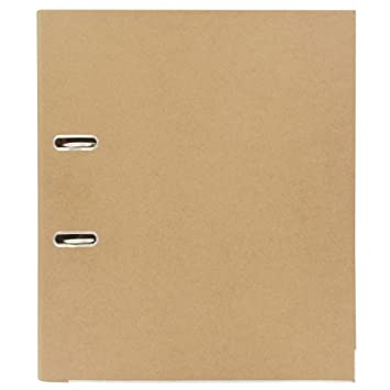 Archivador de anillas A4 de papel kraft reciclado: Amazon.es: Oficina y papelería