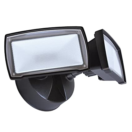 Good Earth Lighting Two Head Led Switch Controlled Security Flood Light Bright White Light 50000 Hours Lamp Life Direct Wire Installation