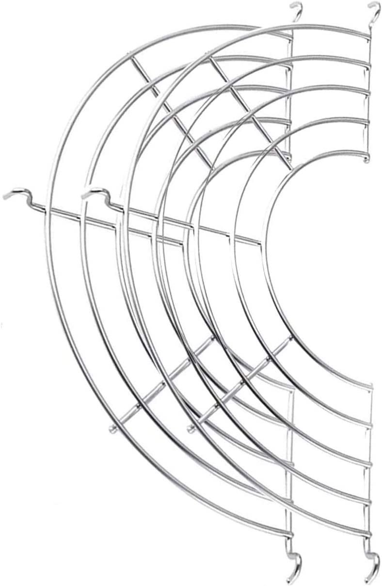 Stainless-Steel Semi-circular Oil Drain Rack - Oil Strainers Shelfs for Frying Pan,2pcs Home Baking Cooking Oil Drip Filter For Tempura, Fried Food (26cm/10.2in)