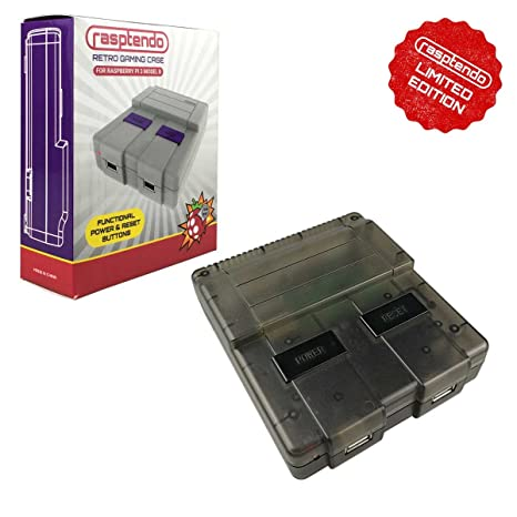 Rasptendo SNES Classic Inspired Raspberry Pi 3 B/B Plus Case | Retro Gaming  Arcade Console Emulator with Functional Power Switch, Reset, and Safe