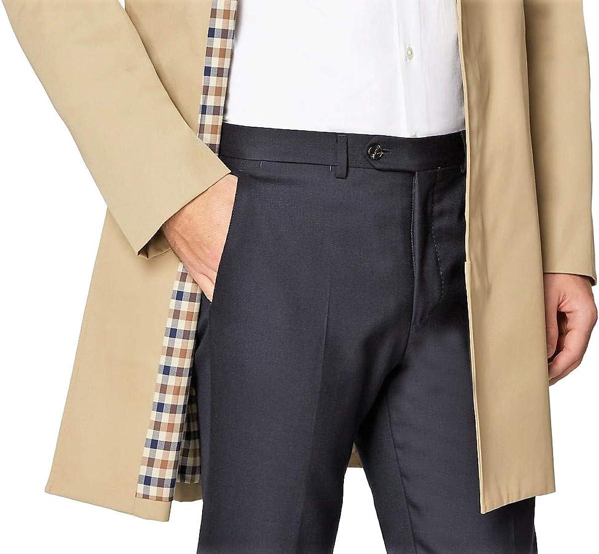 Aquascutum Giubbotto London Slim Broadgate Giacca Trench Beige Uomo Man Jacket