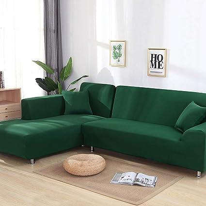 Amazon.com: BERTERI Green Tight Wrap Sofa Cover Elastic Anti ...