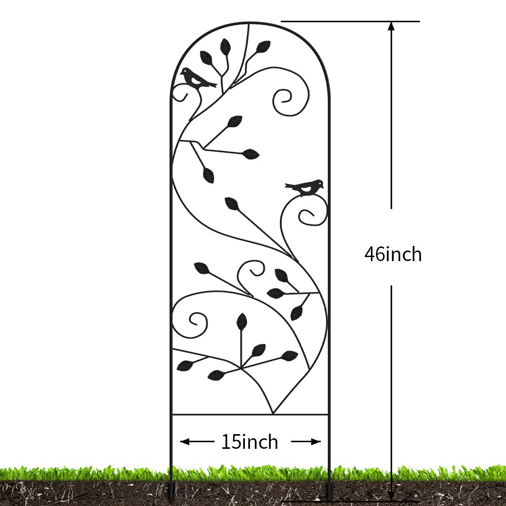 Amagabeli Garden Trellis for Climbing Plants 46'' x 15'' Rustproof Black Sturdy Iron Potted Support Vines Vegetable Flower Patio Metal Wire Lattices Grid Trellises for Ivy Roses Grape Cucumber Clematis by AMAGABELI GARDEN & HOME (Image #2)