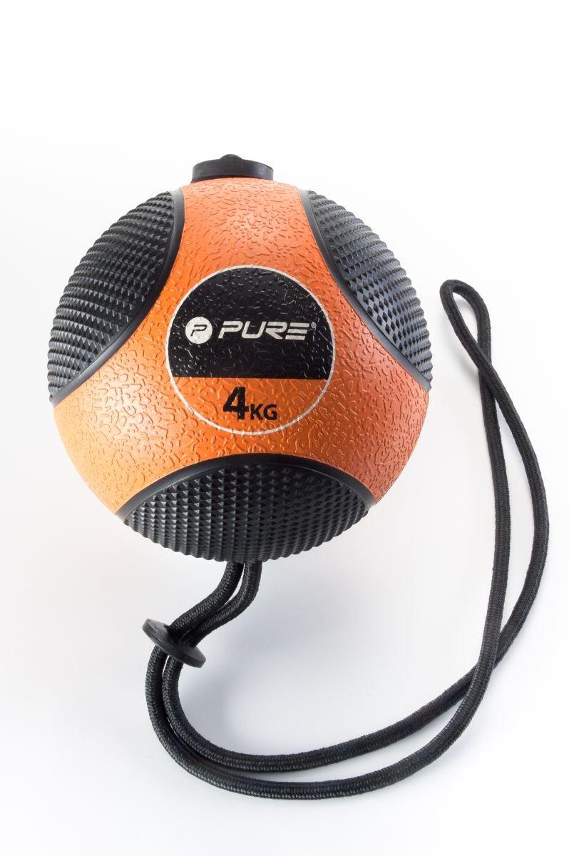 pure2i mprove Balón Medicinal con cuerda fitness fisioterapia 4 kg ...