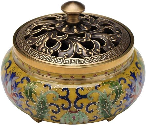 芳香器・アロマバーナー ポータブルの香炉仏教線香立てホームティーハウスヨガスタジオ炉純銅アロマセラピー アロマバーナー芳香器