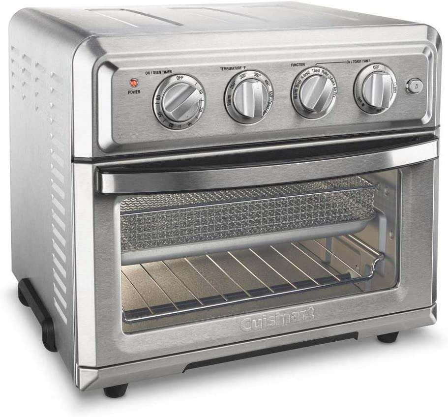 Cuisinart TOA-60 Convection Toaster Oven Air Fryer with Light, Silver - (Renewed)