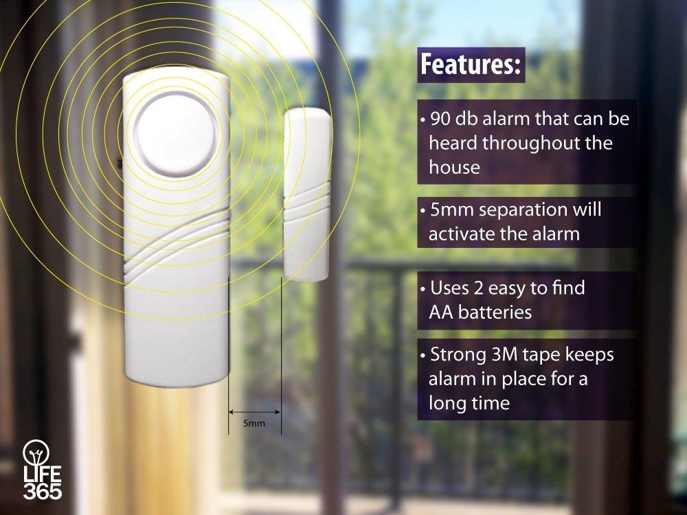 Amazon.com: Puerta de alarma / ventana de alarma inalámbrico con sensor magnético. Paquete de 2. 100% de garantía. Gran Sistema de Seguridad para el Hogar, ...