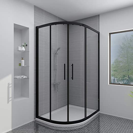 Free Shower Tray /& Waste Aquariss 1200x900mm Offset Right Hand Quadrant Shower Enclosure with Easy Clean Glass