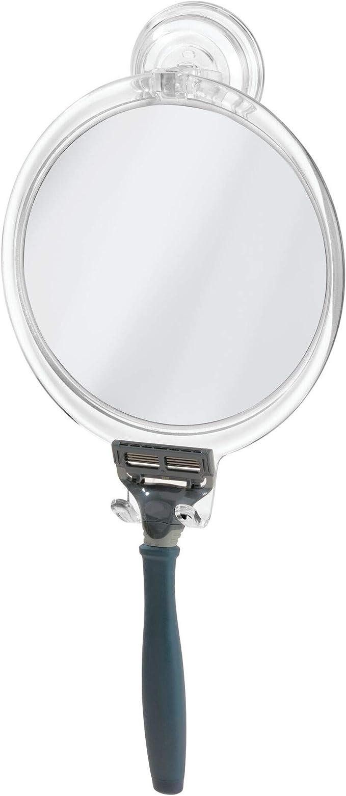 Ettori Fog-Free Shower Mirror Bathroom Fogless Shaving Bathtub Power Lock Suctio
