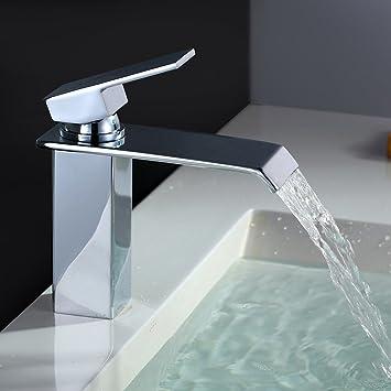Homelody Chrom Wasserfall Wasserhahn bad Waschbeckenarmatur ... | {Badarmaturen wasserfall 15}