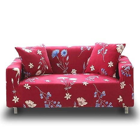 Funda de sofá estampada y lavable de Hotniu, de cuadros, elástica