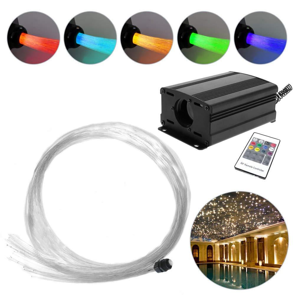 Cablematic – LED-Lichtwellenleiter-Fasern, 6 Watt, RGB, 200 Fasern mit 0,75 mm und Einer Länge von 2,5 m