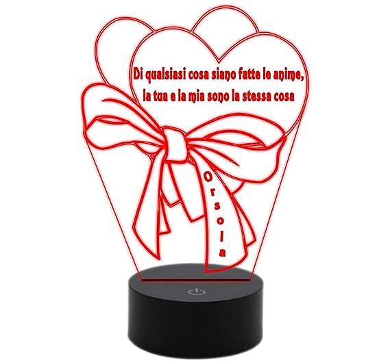 Generico Lámpara Led San Valentín Corazones Con Lazo Frase Y