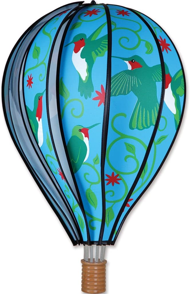 Premier Kites Hot Air Balloon 22 In Hummingbirds Wind Sculptures Garden Outdoor Amazon Com