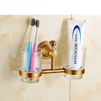 En toda Europa taza de cepillo de dientes de cobre/Copas antiguos/Dual jabonera de cerámica-D: Amazon.es: Bricolaje y herramientas