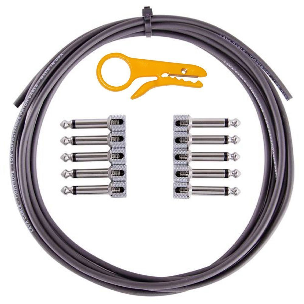 Lava Cable Tightrope Solder-Free Pedal-Board Kit Black Cable LCTWLKTB