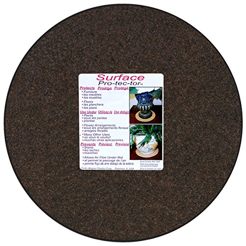 CWP MA-1400 Synthetic Fabric Plant Mat, 14-Inch, Charcoal/Walnut - Cork Mat Eco